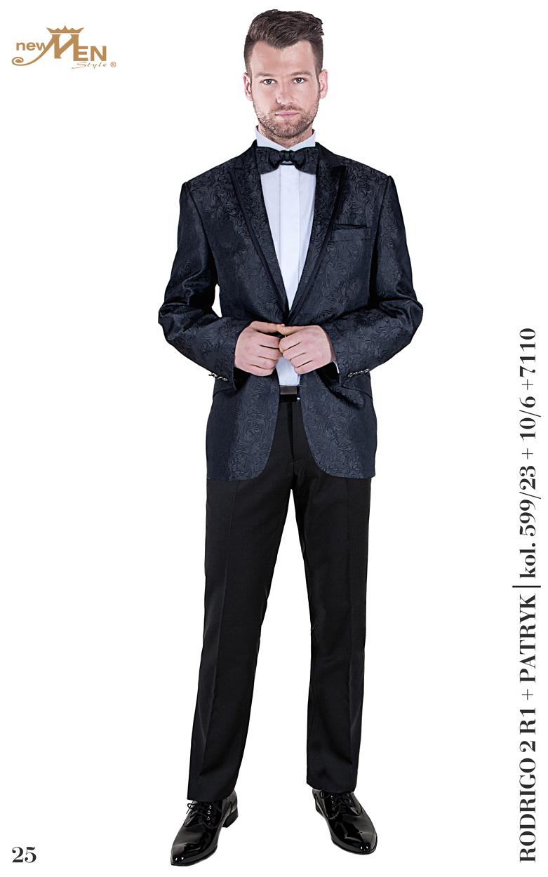 Hochzeitsanzug Rodrigo 2, graphit-schwarz, gemustert, 2- teilig