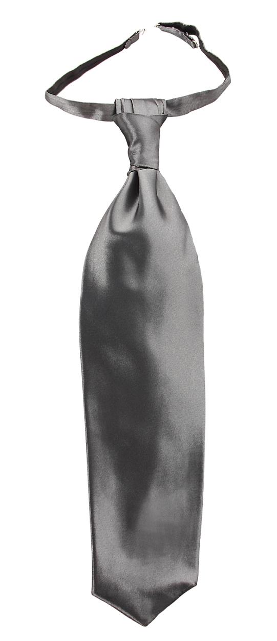 Bräutigamaccessoires Plastron kleiner Knoten silber
