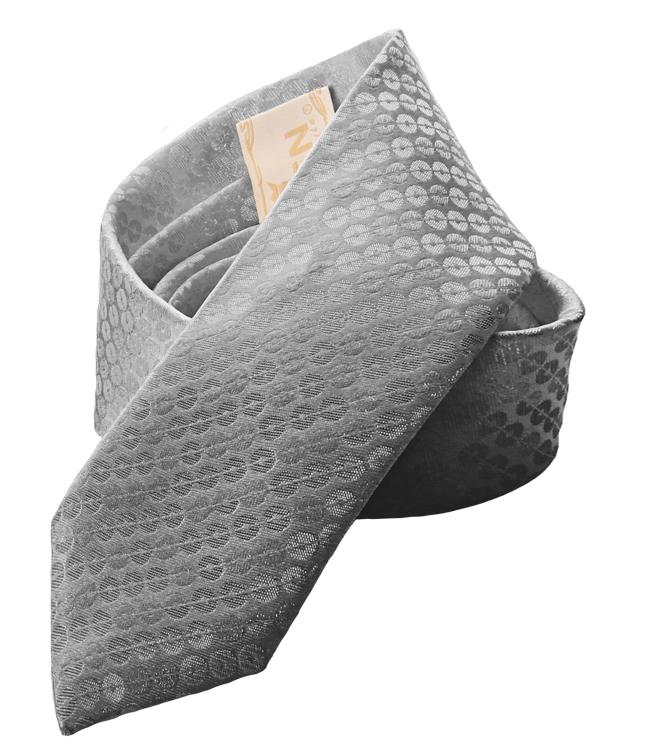 Bräutigamaccessoires Krawatte in silbernem Jacquard-Stoff